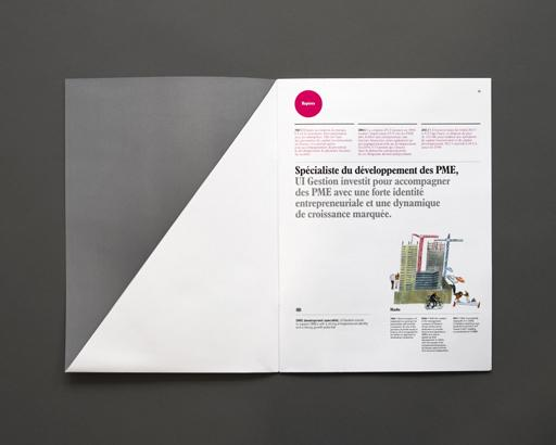 Pour UI Gestion, une plaquette corporate illustrée par l'élégance du trait de Laura Carlin | MC SaatchiCorporate