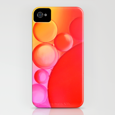 Sunset Bubbles iPhone Case by Ally Coxon | Society6