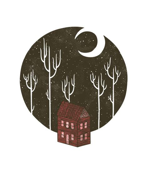 At Night Art Print by Hector Mansilla | Society6