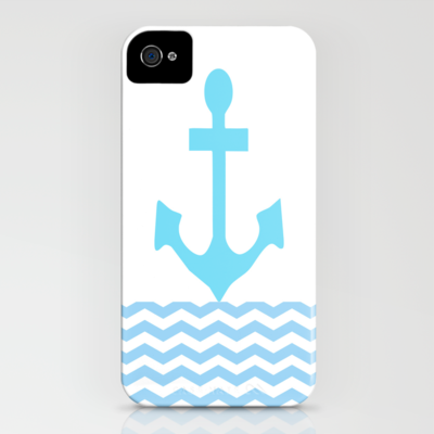 Aqua Anchor iPhone Case by Ally Coxon | Society6