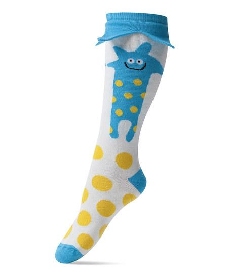 Blue & Yellow Lupus Knee-High Socks | Daily deals for moms, babies and kids