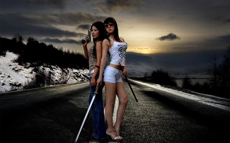 women,sunsets women sunsets road asians gun sword girls with guns winter landscapes girls with swords swords 16 – women,sunsets women sunsets road asians gun sword girls with guns winter landscapes girls with swords swords 16 – Landscapes Wallpaper – Desktop Wallpaper