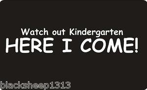 Funny FIRST DAY OF SCHOOL*KINDERGARTEN T-Shirt BOYs NEW | eBay