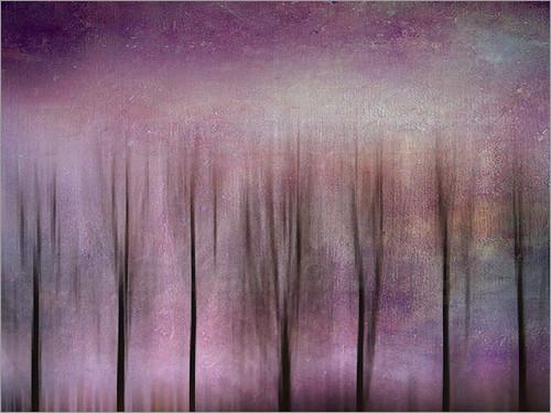 Purple Poplars art poster by Ally Coxon favourable to order