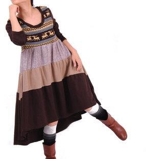 Spring Put on a large doll long Asymmetric dress by MaLieb on Etsy
