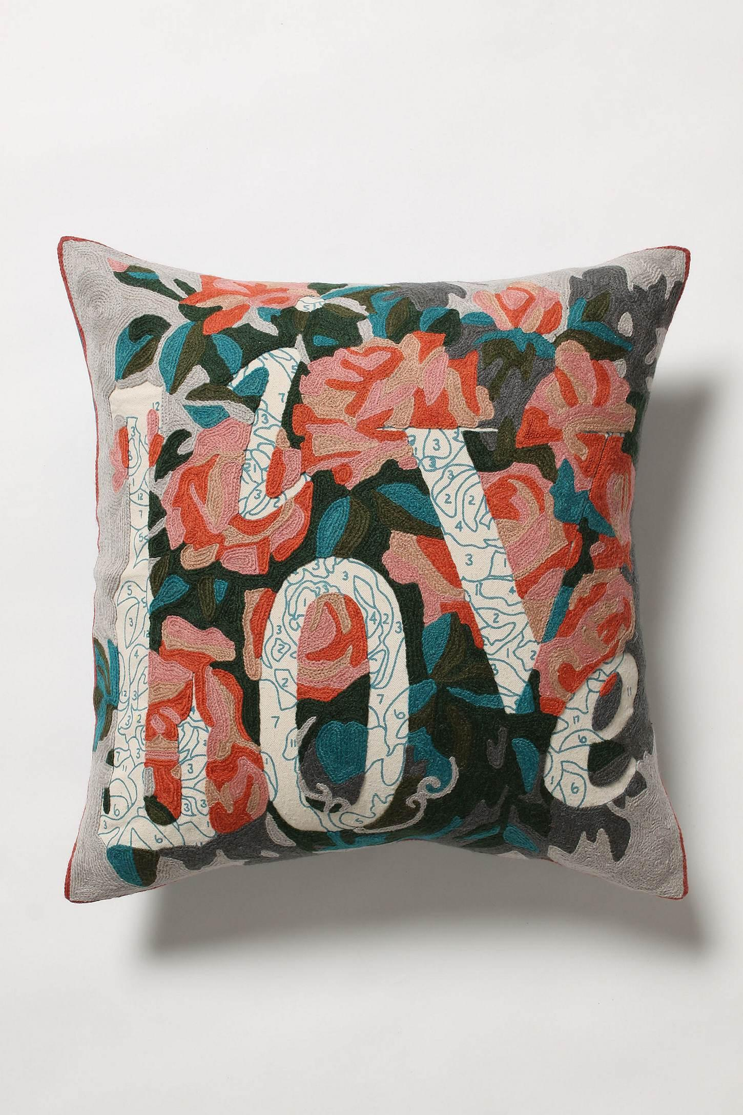 Live Love Pillow - Anthropologie.com
