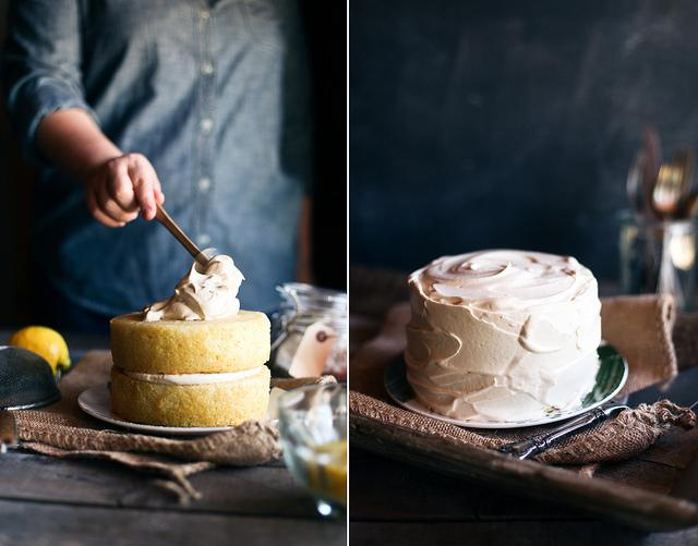 honey & jam | recipes + photos: Lemon Cake with Black Tea Frosting
