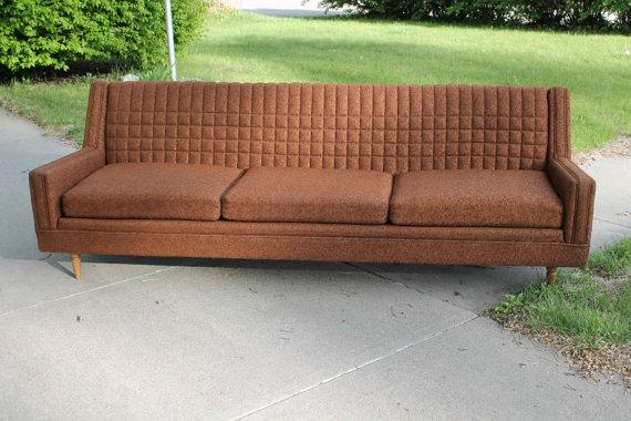Vintage Mid Century/Modern Sofa Chocolate by 5thAvenueThrift