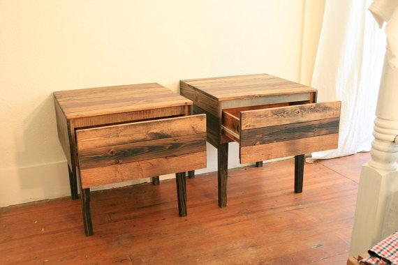 SALE Pair of Nightstands in Cozy finish by CamilleMDesigns