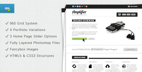 Site Templates - Amplifier Business & Portfolio Template | ThemeForest