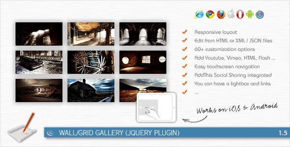JavaScript - Wall/Grid Gallery (jQuery Plugin) | CodeCanyon