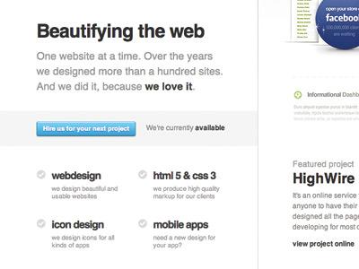 Beautifying the web by Pawel Kadysz