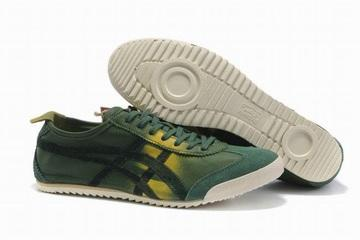 army green yellow asics mexico 66 deluxe shoes