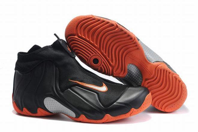 air flightposite 1 black/orange shoes for men