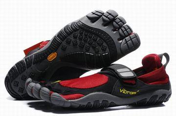 treksport vibram mens sneaker black red