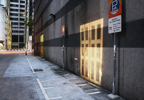 The Doors Project: doors projected on public spaces — Lost At E Minor: For creative people