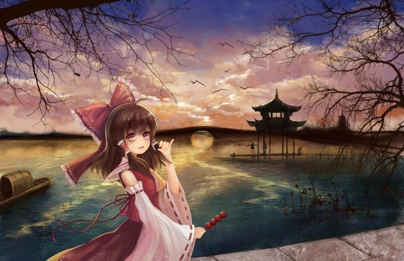 water,brunettes brunettes water video games clouds touhou eyes trees birds food long hair ribbons miko hakurei reimu – water,brunettes brunettes water video games clouds touhou eyes trees birds food long hair ribbons miko hakurei reimu – Lakes Wallpaper – Desktop Wallpaper