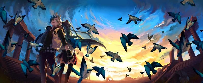 blondes,sunset blondes sunset pants clouds landscapes ruins vocaloid hatsune miku birds ants skirts long hair kagam – blondes,sunset blondes sunset pants clouds landscapes ruins vocaloid hatsune miku birds ants skirts long hair kagam – Birds Wallpaper – Desktop Wallpaper