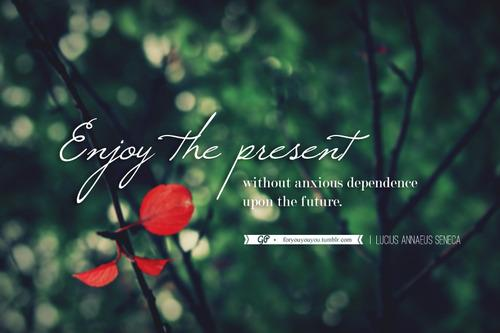 For you & you & you: Don't overlook the present in favour of the...