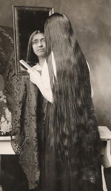 vintage everyday: Vintage Photos of Edwardian Rapunzels