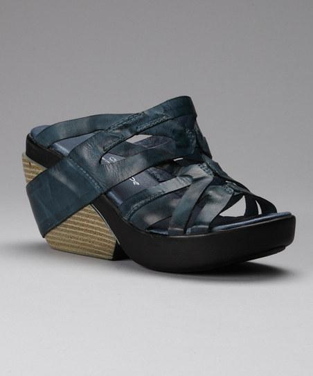 Blue Zigzag Wedge Slide | Daily deals for moms, babies and kids