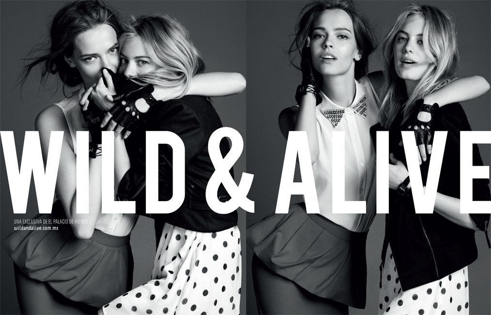 Camille Rowe & Mina Cvetkovic by David Roemer