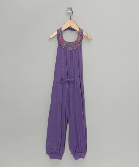Purple Knit Jumpsuit - Girls | Daily deals for moms, babies and kids