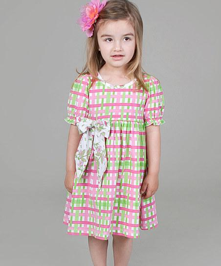 Pink & Green Plaid Dress - Infant, Toddler & Girls | Daily deals for moms, babies and kids