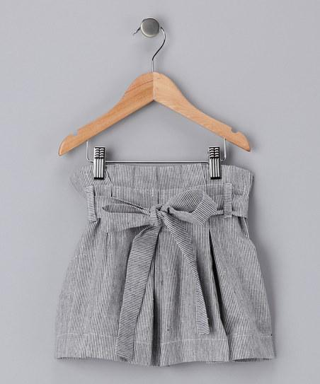 Gray Marine Pleated Skirt - Toddler & Girls | Daily deals for moms, babies and kids