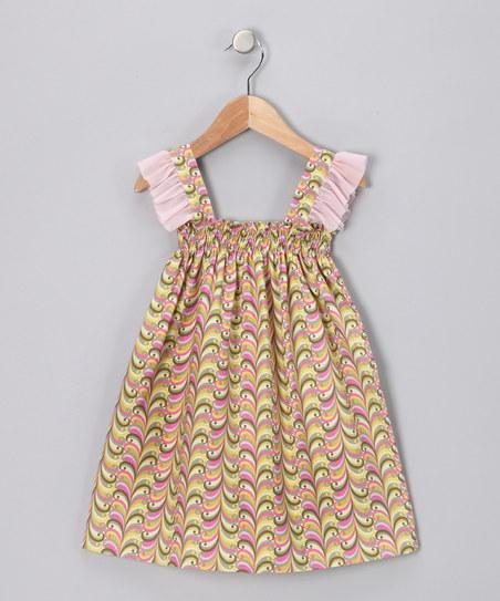Green & Pink Swirl Smocked Dress - Toddler & Girls | Daily deals for moms, babies and kids