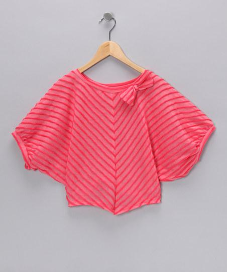 Strawberry Ribbon Dolman Top - Girls | Daily deals for moms, babies and kids