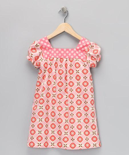 Pink & Coral Diamond Joan Dress - Infant, Toddler & Girls | Daily deals for moms, babies and kids