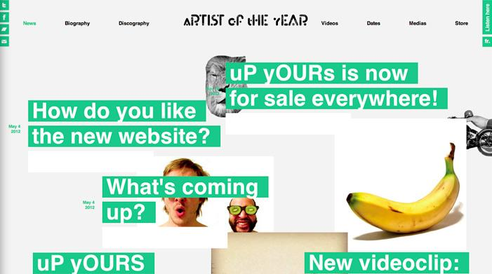 aRTIST oF tHE yEAR | Awwwards | Site of the day