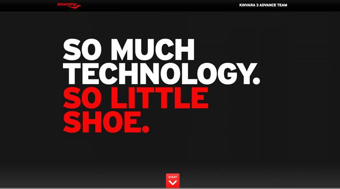 Saucony Kinvara 3 | Awwwards | Site of the day