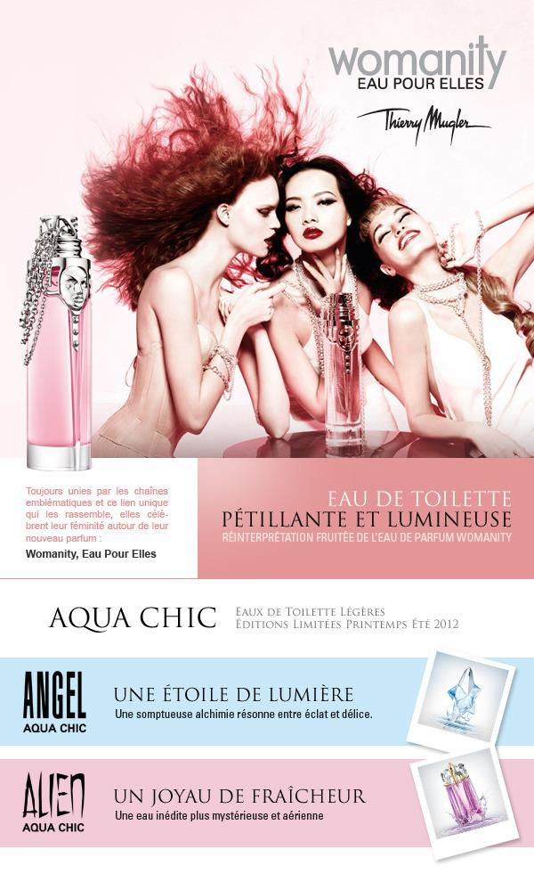 Direction Artistique Web coulée Thierry Mugler par Clarins Fragrance Group Freelance fr> Creasenso