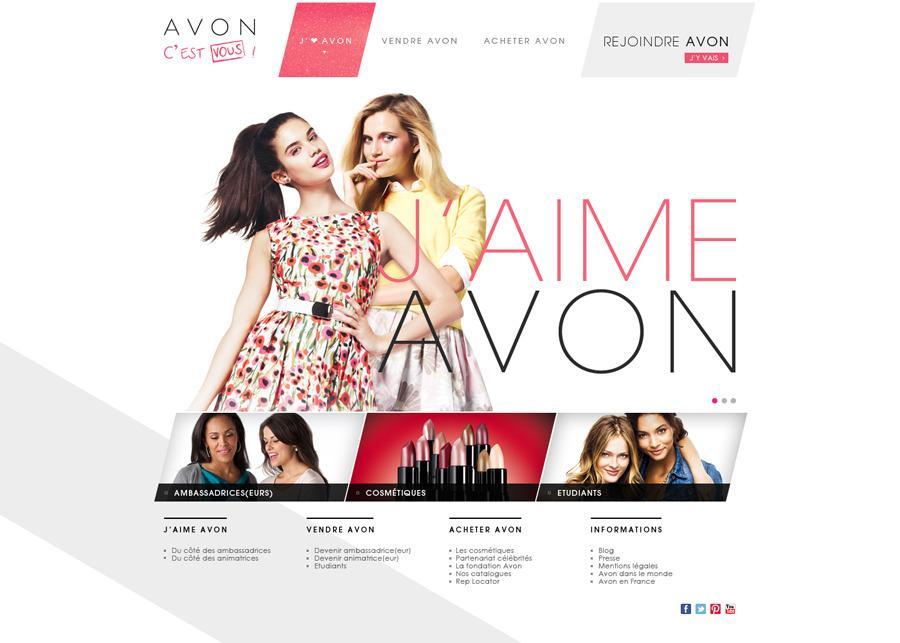 Direction Artistique Web pour AVON en Freelance > Creasenso