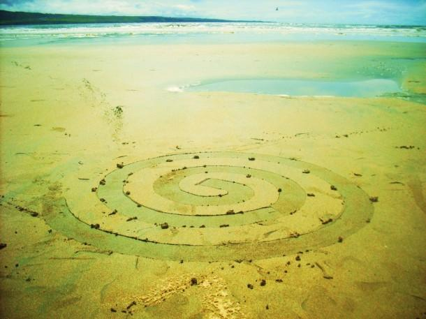 Eco art - Environmental land art by artist Gerry Barry