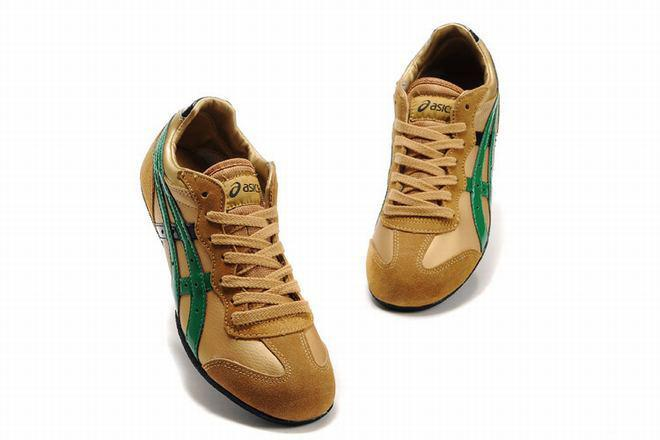 gold green black asics whizzer lo tiger shoes for women