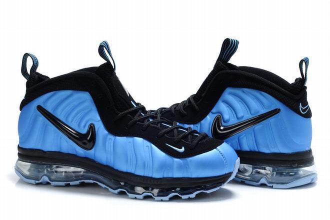 air foamposite max 2009 blue/black shoes for men