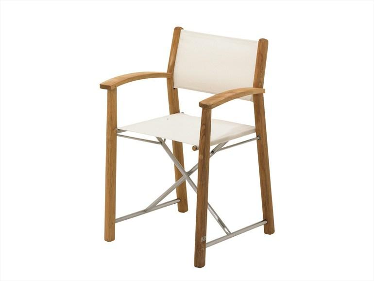 FOLDING TEAK GARDEN CHAIR WITH ARMRESTS RIVIERA COLLECTION DESIGN BY STAFFAN HULTGREN | GLOSTER