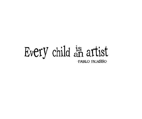 Every child is an artist pablo picasso Vinyl by VinylConcepts