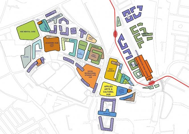 Grangegorman Urban Quarter Masterplan Broadstone Terminal | Moore Ruble Yudell Architects & Planners