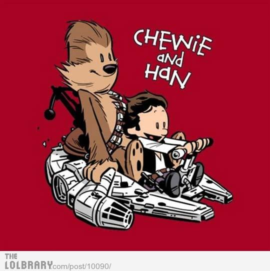 Chewie and Han | The Lolbrary - New Funny Random Pictures Added Daily