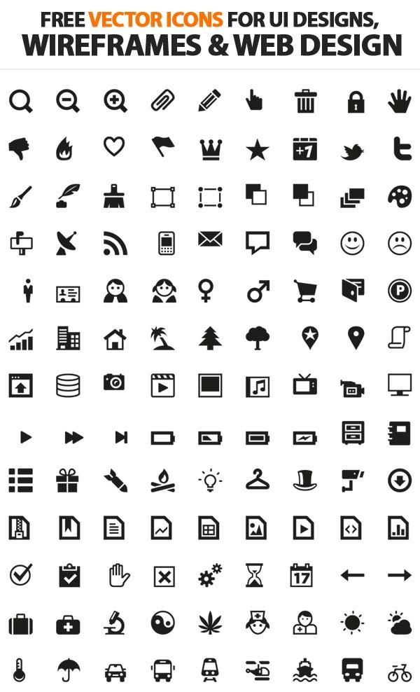 200+ Free Vector Icons For UI, Wireframes and Web Design | Icons | Graphic Design Junction