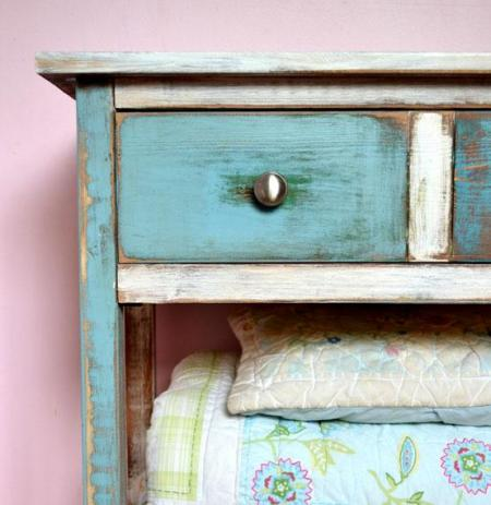 How To Paint Furniture | Reclaimed Wood Patchwork Multi Color | Ana White - Homemaker