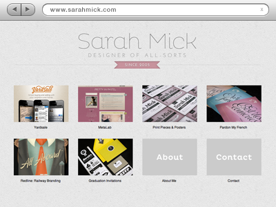 New Website by Sarah Mick