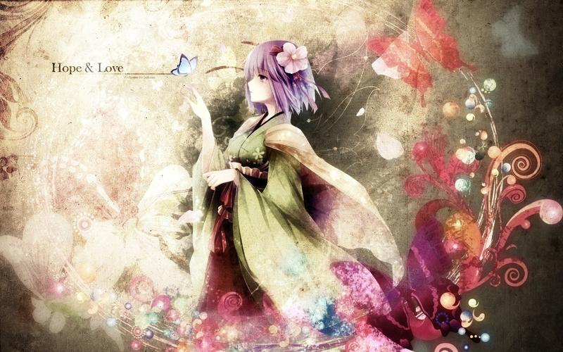 video games,Touhou video games touhou dress flowers texts butterfly ribbons purple hair short hair purple eyes hieda no – video games,Touhou video games touhou dress flowers texts butterfly ribbons purple hair short hair purple eyes hieda no – Butterflies Wallpaper – Desktop Wallpaper