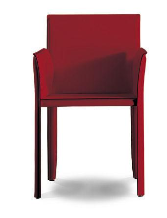 Contemporary leather armchair - QUEENS - OZZIO DESIGN