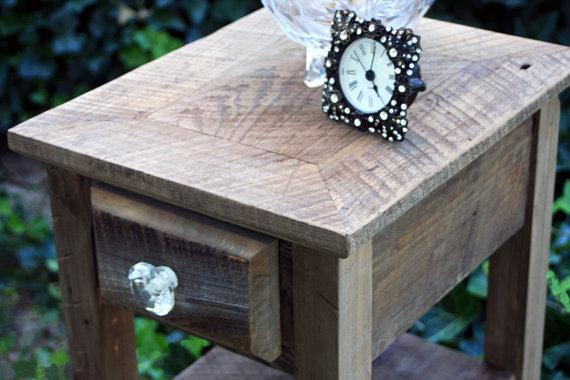 Night Stand Rustic Nights Reclaimed Wood by natureinspiredcrafts