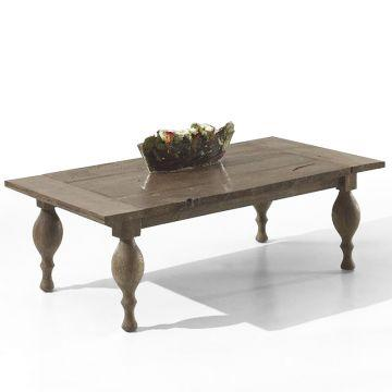 Reclaimed wood Coffee table Antique turning legs coffee ...